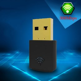 Discount antenna adapters Wholesale- Mini PC WiFi adapter 8dbi 23dbm USB Wireless Adapter Dongle Dual Band 802.11n g b Internet Network Card wi fi