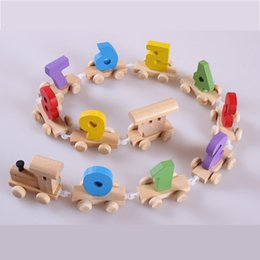Number Blocks Canada - Baby Montessori Soft Wood Train Figure Model Toy with Number Pattern 0~9 Blocks Educational kids Wooden Toy children gifts