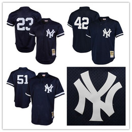 e58448474fa ... White Pinstripe Retro New York Yankees 23 Don Mattingly Jersey 42  Mariano Rivera Jersey 51 Bernie Williams Jersey ...