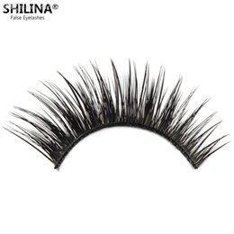 Shilina Faux Cils Pas Cher-Vente en gros-SHILINA 3021 Cales fausses naturelles Black Fake Eyelashes 1 paire Cils faux Eyelash Long Eye Lashes Extension Band Maquillage