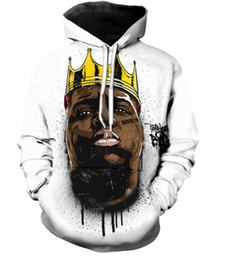 biggie smalls sweatshirt UK - New Fashion Couples Men Women Unisex Rapper Biggie Smalls 2pac Tupac 3D Print Hoodies Sweater Sweatshirt Jacket Pullover Top S-5XL T54