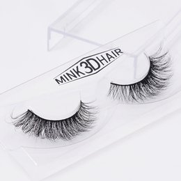 human lashes UK - 1 pair 3D Handmade Thick Mink Eyelashes Natural False Eyelashes for Beauty Makeup fake Eye Lashes Extension SA19 1-1.5cm
