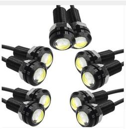 El trabajo diurno de la niebla DRL del coche de la luz del ojo del águila de 9W LED 18MM los 23MM DC12V que conduce la lámpara de reserva reversa de la luz de la señal del estacionamiento que envía libremente