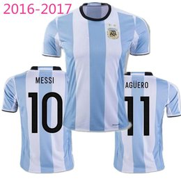 538176770fa ... Argentina 2016 Away Soccer Jersey 2016 Argentina Jerseys Soccer  Uniforms 16 17 Home White MESSI Argentine ...