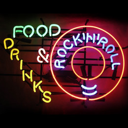rolling rock beer signs 2019 - New Handcraft Rock in Roll Real Glass Tubes Beer Bar Pub Display neon sign 19x15!!!Best Offer!
