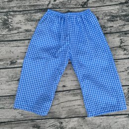 $enCountryForm.capitalKeyWord NZ - Boys Blue Plaid Seersucker Pants Fall Winter High Quality Warm Long Pants Children Candy Color Pants