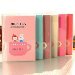 mini school supplies NZ - New Mini Sketchbook Cute Cartoon Milk Tea Notebook Diary Planner Notepad Simple School Supplies for Student New Papelaria