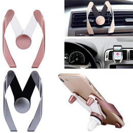model mobile phone 2019 - Universal M Shape Mobile Phone Car Holder Adjustable M Model Air Vent Mount Phone Bracket Stand Holder for iphone 6s 7 8