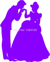 Wholesale prince stickers for sale - Group buy Automobile and Motorcycle Vinyl Decal Car Glass window Stickers Jdm Prince Charming And Cinderella Silhouette