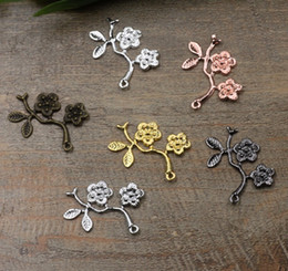 $enCountryForm.capitalKeyWord Australia - 07457 29mm antique bronze silver rose gold gun black plum flower charms for jewelry making, bulk free shipping necklace pendant for bracelet