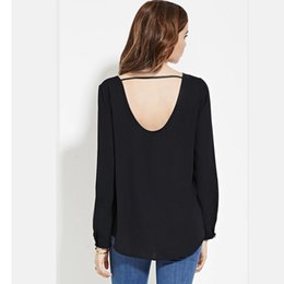 09e372ef05b Wholesale-Brand New Fashion 2016 Plus Size 6XL Long Sleeve V Back Chiffon T  Shirt For Women Summer Casual Vintage Tshirt Tops XXXXL 5XL