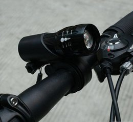 $enCountryForm.capitalKeyWord NZ - Outdoor Cycling Bicycle LED Flashlight Front Head Light Torch Lamp With Mount Holder Bicycle Accessories