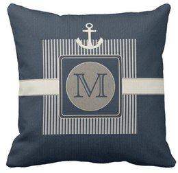 discount plain burlap pillows throw pillow case burlap effect nautical shipu0027s anchor monogram square sofa