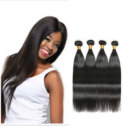 filipino virgin human hair NZ - Malaysian Hair Extension 100% Straight Virgin Human Hair 3 4 Bundles Russian Extension Weave Filipino Straight remy human hair