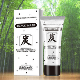 bamboo oils Australia - Face Masks Skin Care 80g Bamboo Charcoal Black Mask Cream Deep Cleansing Face Natural Oil Control Pore Cleaner Remover Blackhead