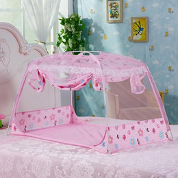 $enCountryForm.capitalKeyWord Canada - Wholesale- Cute Cartoon Pattern Princess Baby Bed Mosquito Net Infant Crib Netting Children Camping Tent Baby Mongolian Yurt Netting Tent