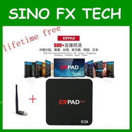 EVPAD PRO Android TV KUTUSU Kore Malezya Japonya CN HK TW SG 1700 + Kanalları IPTV ömür boyu ücretsiz yurtdışı için çince indirimde