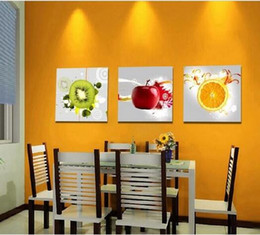 Canvas Art Kitchen Wall Art Fruit Juice Kitchen Decor Oil Printing On Canvas  Of Copies Frame 3 Pcs