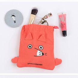 $enCountryForm.capitalKeyWord Canada - New Cartoon Travel Cosmetic Bag Nylon High Capacity Women Girls Drawstring Bag Makeup Organizer Storage Bag
