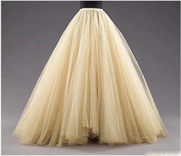 Wholesale aline skirts for sale - Group buy Tulle Long Women Fashion Skirts ALine Layered Tutu Floor Length Custom Made Size Plus Size Party Prom Adult Wear Spring Autumn Cheap Dress