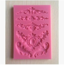 cake lace moulds UK - Silicone Mold Lace Flower Border Small Craft DIY Gumpaste Cake Decorating Decoration Tools Baking Moulds Free Shipping