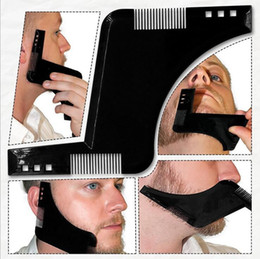 $enCountryForm.capitalKeyWord UK - 2017 New Comb Beard Bro Shaping Tool Sex Man Gentleman Beard Trim Template Hair Cut Hair Molding Trim Template Beard Modellin