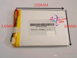 Battery Gps Polymer Australia - Hot selling Free shipping! 3.7V 4000mAh 3668100 Polymer Lithium Li-Po Rechargeable Battery For DIY Mp3 MP4 MP5 GPS PSP e-book