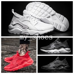 $enCountryForm.capitalKeyWord Canada - 2018 Air Huarache 4 IV Running Shoes For Mens Women Black White Red High Quality Sneakers Triple Huaraches Jogging Sports Outdoor Men Shoes