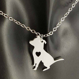 wholesale dog lover gifts NZ - Cain Teerier Pendant Necklace 304 Stainless Steel Animals Women Charm Pendants Pet dog lover Necklaces Children Gifts