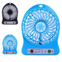 Usb fan for laptop desk online shopping - 2017 Universal Mini Portable Li ion Battery Rechargeable LED Fan air Cooler Operated Desk USB Fan for Computer PC Laptop
