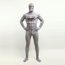 $enCountryForm.capitalKeyWord Canada - Hot Sale 2017 Grey Lycra Spandex Fullbody Zentai Suit Halloween Superhero Spider-man Cosplay Costumes For 2017