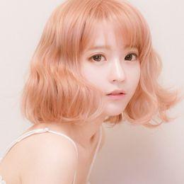 $enCountryForm.capitalKeyWord NZ - Z&F High Quality Shot Yurisa Golden Pink Synthetic Hair Cosplay Bob Wigs Lolita Style Costume Play Wigs For Women