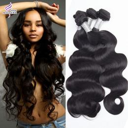 $enCountryForm.capitalKeyWord NZ - Modern show hair products mink brazilian body wave virgin hair 3 bundles unprocessed human hair weave 1b color mix length can be dyed