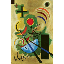 $enCountryForm.capitalKeyWord NZ - Modern art Solid Green by Wassily Kandinsky paintings on canvas High quality hand-painted
