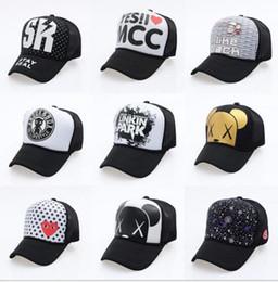 branded baseball mesh caps 2018 - Mesh Trucker Hat Adjustable Snapbacks Fitted Caps Dad Hat Brand Adult Summer Sun Visor Hip Hop Baseball Cap for Men Wome