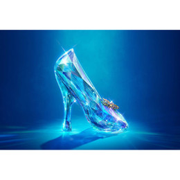 China Cinderella's Crystal Shoes Full Drill DIY Mosaic Needlework Diamond Painting Embroidery Cross Stitch Craft Kit Wall Home Hanging Decor suppliers