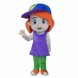 free hair mascot 2019 - Free Shipping Baseball Girl Red Hair Plush Cartoon Character mascot Costume discount free hair mascot