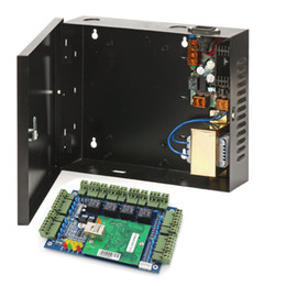12v power supply box UK - TCP IP 4 doors access control board panel with 220V to DC 12V Power Supply Color Black Power 30-60W Box for access control system