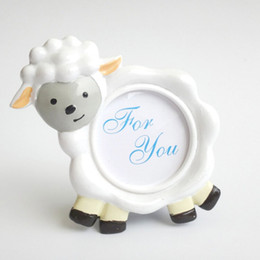Framed shower online shopping - Baby Lamb Cute Sheep Shape Photo Frame Place Card Holder Baby Shower Birthday Party Table Decoration ZA3702