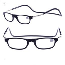 Новый Clic Очки Для Чтения Магнитный Камень На Носе Очки Для Чтения Очки Повесить Шею 4 Цвета Дешевые Оптовые Очки Магазин