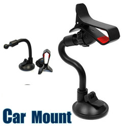 Suction cupS phone holder online shopping - Car Mount Long Arm Universal Windshield Dashboard Cell Phone Car Holder with Strong Suction Cup and X Clamp for iPhone s DB