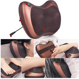 Barato Travesseiro De Massagem Quente-Hot Multifunction Home Car Eletricista Body Massager Travesseiro Infrared Acupressure Shiatsu Pescoço Alívio Da Dor Maquina De Massagem