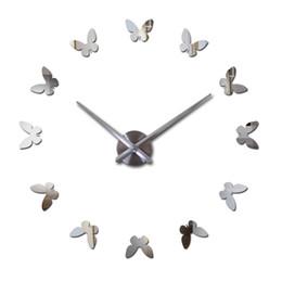 $enCountryForm.capitalKeyWord UK - Wholesale- 2016 New Wall Clock 3d Acrylic Mirror Clocks Reloj De Pared Quartz Watch Horloge Home Living Room Modern Diy Wall Stickers
