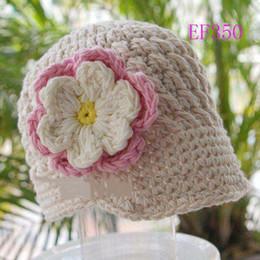 Baby Boy Skull Crochet Beanies Canada - Hallowmas Christmas Flower Hat Baby Kid Infant Toddler Girl Winter Children Beanie Crochet Knitted Skull Cap 100% Cotton Newborn Photo Props