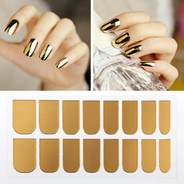 Esmalte De Uñas Aburrido Baratos-Mujeres de la manera Adhesive Art Nail Stickers Metal Dull Polish Nail Wraps Sticker Manicura Glitter Decor Foil Decals