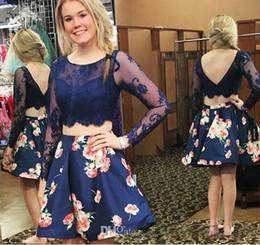 $enCountryForm.capitalKeyWord NZ - Charming Prom Dresses Sexy Lace Ball Dresses 2017 Pure Fanning Season Short Party Dress Long Sleeve Evening Dress Plus Size