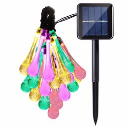 $enCountryForm.capitalKeyWord UK - Multi Color xmas Solar Power String 2m 20 LED Lights led Strip Water Drop Outdoor Light For Wedding Christmas Festival Party Decoration