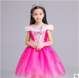Les Enfants Du Soir Pas Cher-Belle Princesse Halloween Party Evening Costume Enfants Cosplay Dress Party Girl Princess Off épaule Robes en satin Kids Girls Dresses