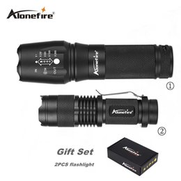Flash Drive Fish Australia - AloneFire E26+sk68 High Powered XML T6 Led Zoomable Flashlight Rechargeable Waterproof 26650 flash light led Torch gift set