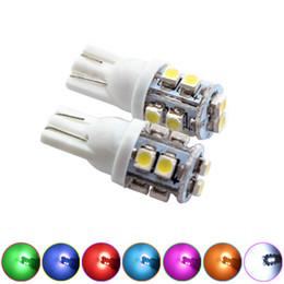 Discount 168 led blue bright - LEEWA 2pcs Bright T10 Wedge 168 194 W5W Car LED Light Bulbs 1210 10SMD 12V 7 Colors #2790